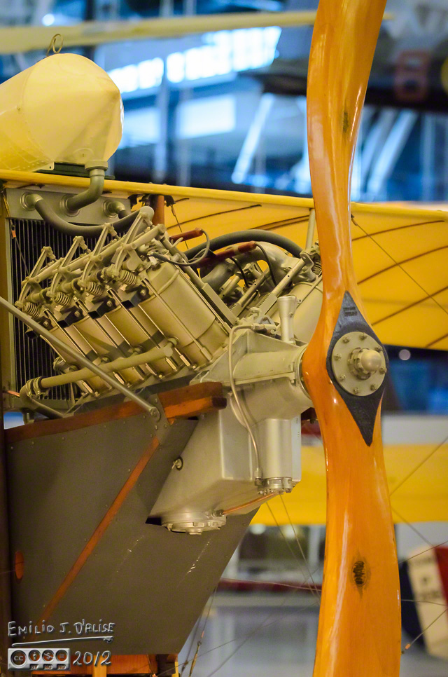 Fowler-Gage Biplane Engine and Propeller