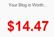 Blog worth