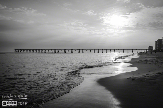 The Pier - in Black and White