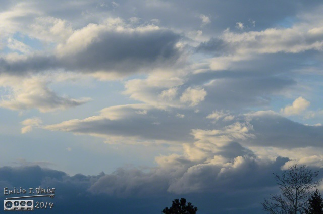 Clouds, as shot