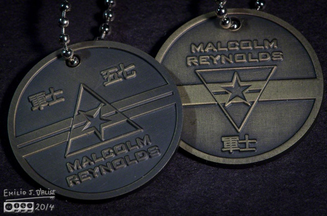 Serenity, dogtags,