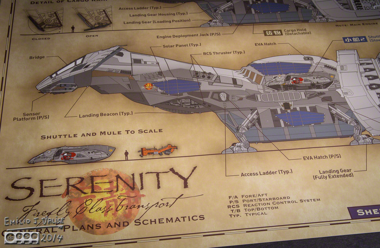 firefly limited edition serenity blueprints disperser tracks rh dispersertracks com Serenity Ship Schematics Serenity Ship Schematics