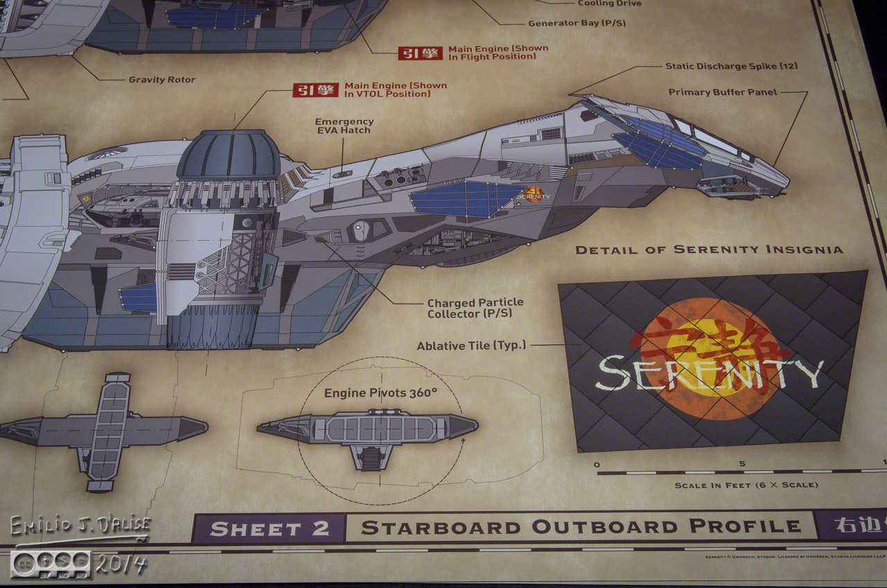 Serenity Blueprint Reference Pack Quantum Mechanix Full Size Edition