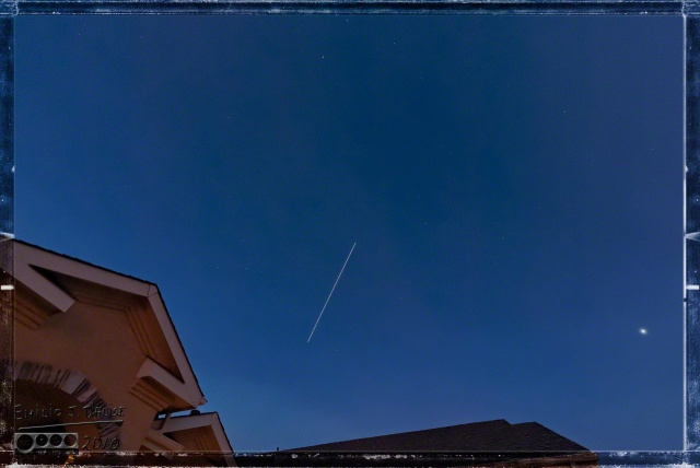 ISS 30 seconds transit. http://spotthestation.nasa.gov/sightings/#.U2LqM_lr58F