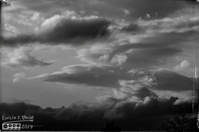 Clouds, as shot (DxO Film Pack B&W conversion)