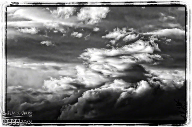 Clouds, as shot, onOne Effects atop B&W conversion