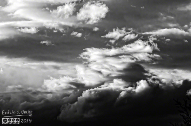Clouds, as shot, onOne Perfect B&W conversion