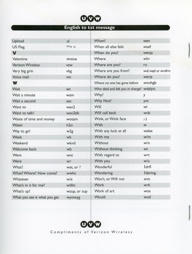 Sample Page - English to Text message