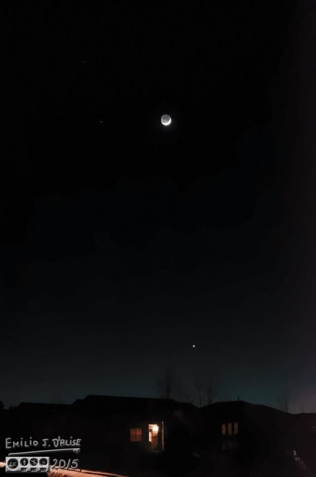 Moon, Venus. Mars,