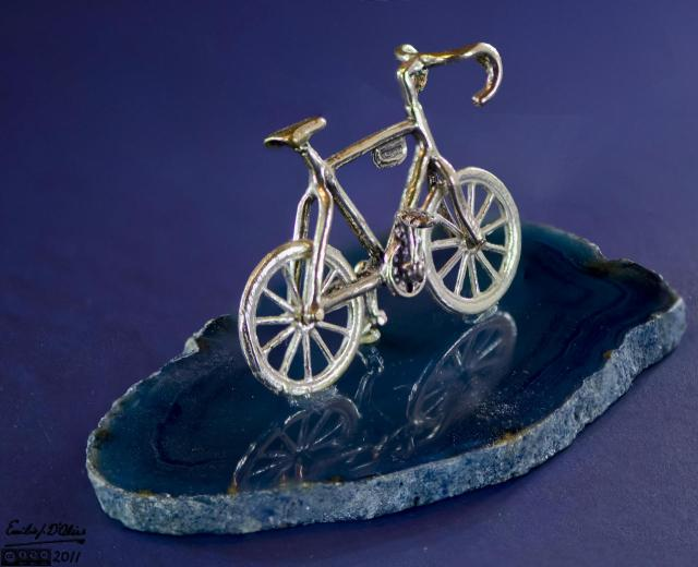 """Macro of 1"""" bicycle - blended layers"""