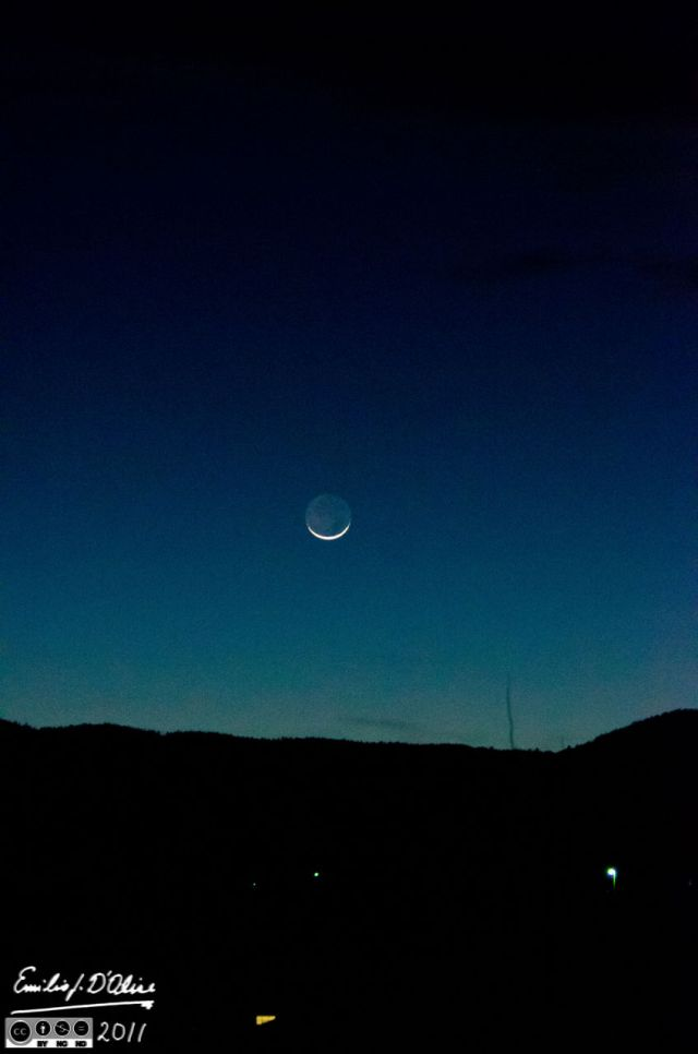 Earthshine from my house