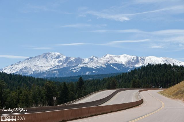 Pikes Peak as seen from Woodland Park