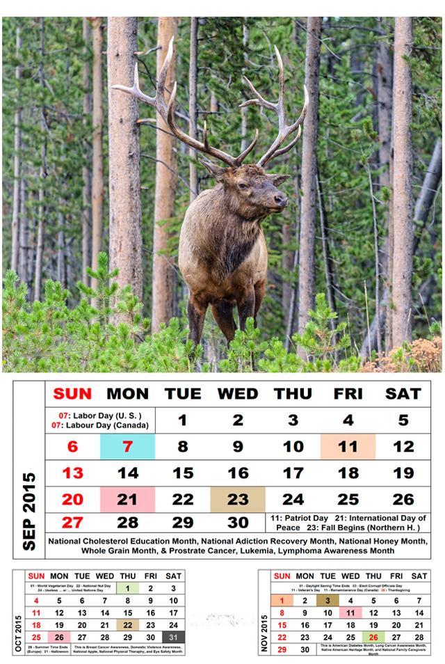 September 2015 Calendar