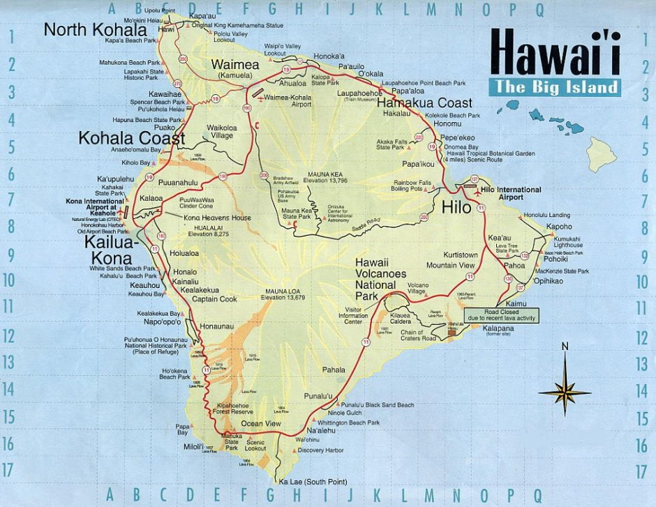hawaii-tourist-map