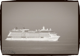 Celebrity Solstice - approching Kona from the South
