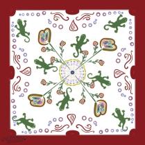 Gecko Family Reunion Group Quilt