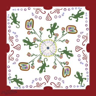 Gecko Family Reunion Group Quilt