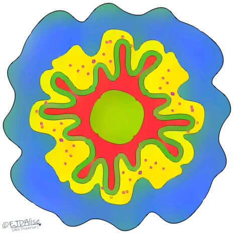 Layered Amoeba With Measles Almost Cured