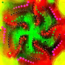 Octopus Moonlighting as an Exotic Dancer in Las Vegas Behind Neon Screen