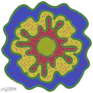Multi-layer Amoeba with Multi-color Chicken Pox