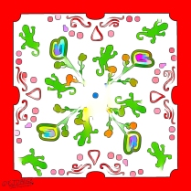 Gecko Family Gathering Incomplete — But Colorful — Rendering