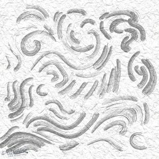 Fanciful Zen Garden on Crumpled Paper