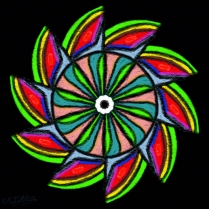 Watermelon Wheel In A Starless Night Sky