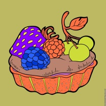 If I made a fruit pie, it would look like this