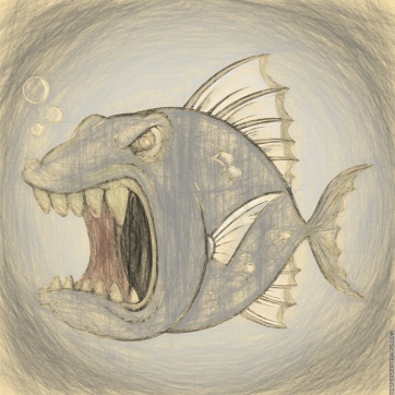 The Don't Mess With an Angry Fish early concept