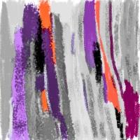 Purple, Orange, and Magenta Paint Drying