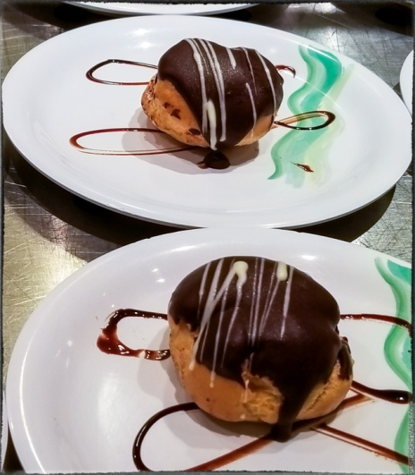 Amaretto Profiteroles (Gluten Free) — catering to the latest health fads and people who imagine they are somehow special and that the reason they don't feel well isn't because they eat too much; it's because of that darn gluten.