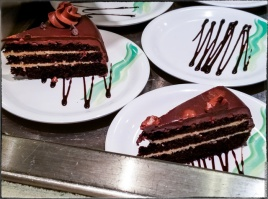 Chocolate Peanut Butter Cake — not as good as it sounds