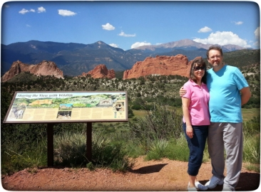 Susan and Eraldo during a 2014 visit to our home in Colorado.