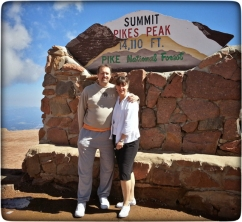 Eraldo and Susan during a 2014 visit to our home in Colorado.