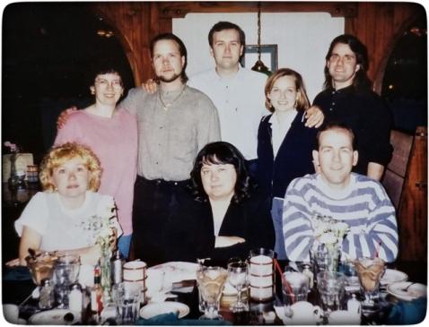 The cousins: Louise, Ann, Anthony, Sylvia, Eraldo, Debbie, Carlo, and Dennis.