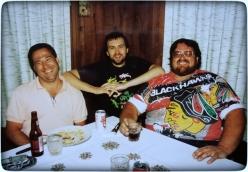 Eraldo with friends.