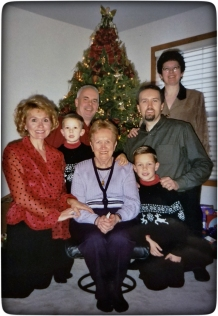 With Mother, sisters, Brother-in-Law, and nephews.