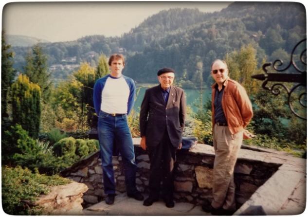 With Zio Marino and Zio Giovanni.