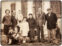 Our family in Italy with our maternal grandmother and grandfather