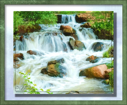 small tiered waterfall