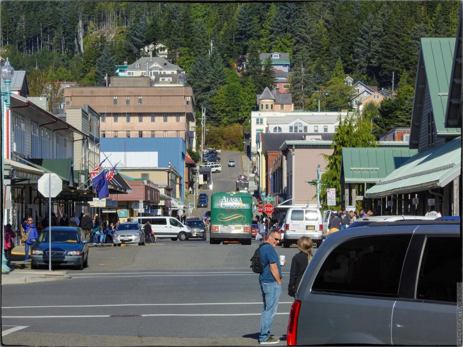 Photo of a street scene in Ketchikan