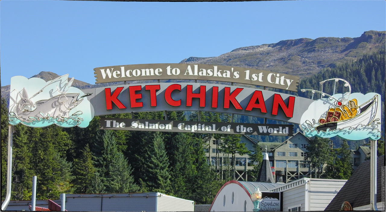 Ketchikan welcome sign