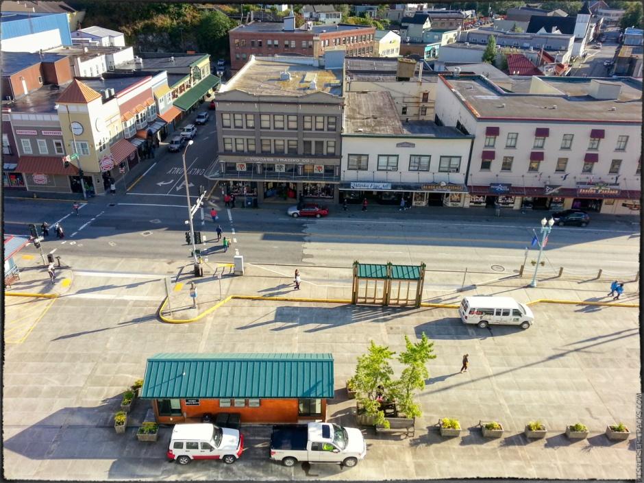 Ketchikan, Alaska, waterfront shops
