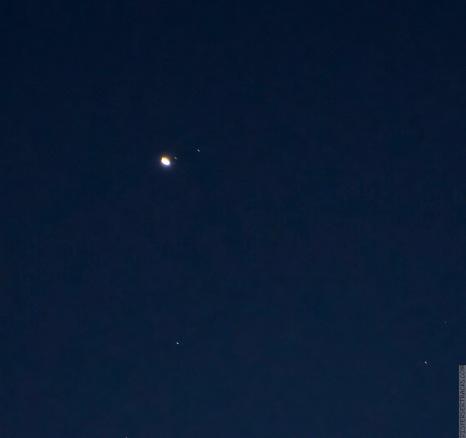 Cropped image of Saturn December 5, 2020, 17:24:27 — Marion, Illinois Nikon D7500, Nikon AF VR-Nikkor 80-400mm 1:4.5-5.6D Photo: 300mm 1.0 sec. f/6.3 ISO 800