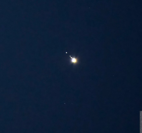 Cropped image of Jupiter December 5, 2020, 17:24:27 — Marion, Illinois Nikon D7500, Nikon AF VR-Nikkor 80-400mm 1:4.5-5.6D Photo: 300mm 1.0 sec. f/6.3 ISO 800