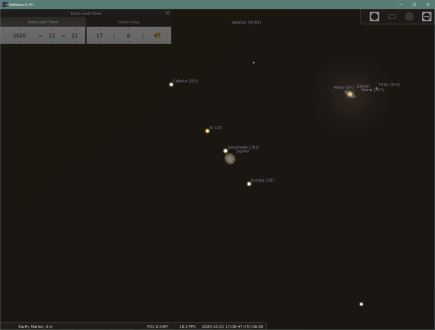 Stellarium snapshot
