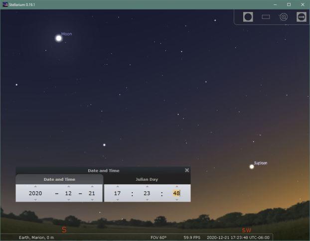 Stellarium 21december2020 17 23 48