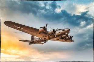Boeing B-17 Flying Fortress — Sky replacement and Color Efex Pro 4 processing.