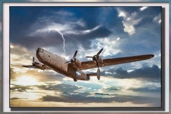 Consolidated B-24 Liberator — the above plus a few more tweaks and framed in Topaz Studio.