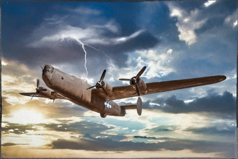 Consolidated B-24 Liberator — previous plus Topaz Impression to turn it into a painting.